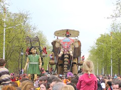 Le Petit Géant  + The Sultan's Elephant (steeev) Tags: uk carnival london robot parade robots robotics animatronics puppetry spectacle streettheatre steeev royaldeluxe sultanselephant thesultanselephant lepetitgéant