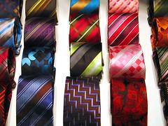 さまざまな柄のネクタイ