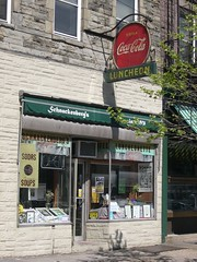 Schnackenberg's Luncheonette (Triborough) Tags: sign newjersey nj 2006 cocacola hoboken 12thstreet 11thstreet washingtonstreet hudsoncounty april2006 123nj