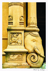 Temple Column (Araleya) Tags: sculpture elephant art temple nikon colorful asia artistic buddhist religion culture carving srilanka buddism sculptures colombo artisitc loyalty southasia asain interestiness 10faves i500 interestingness457 saarc kelaniyatemple bluelist angkorsingle srilankanbeautymemberschoice