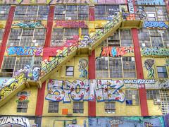 5 Pointz - Stairway (Darny) Tags: nyc newyorkcity urban newyork graffiti graf queens hdr 5pointz webcity darny