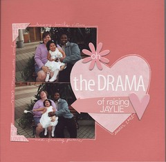oh the drama (joymadison) Tags: scrapbook scrapbooking layout layouts book9