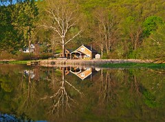 The Sycamore (Matt Champlin) Tags: camping reflection landscape cabin perfect stream hiking tranquility brook magichour magicmoment skaneateles mireasrealm lovephotography groutbrook
