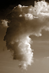 Sepia cloud (Butch Coolidge) Tags: sky cloud art nature sepia arty natural lovephotography