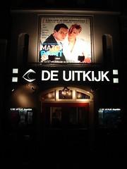 De Uitkijk - front, night (Roloff) Tags: cinema film amsterdam movie geotagged kino theatre prinsengracht movietheater bioscoop cin arthouse matchpoint deuitkijk