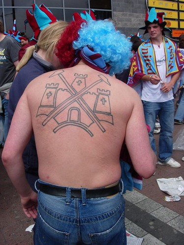 West Ham tattoo