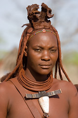 Himba portrait (Andrew Luyten) Tags: africa people geotagged desert african culture tribal safari afrika tribe ethnic namibia tribo himba afrique ethnology tribu namibie tribus ethnie keadventure geo:lat=1967025 geo:lon=15021