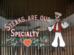 Steaks are our specialty (jschumacher) Tags: kansas wilson windowpainting wilsonkansas czechcapitalofkansas