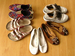 Summer shoes! (tommy tommy) Tags: london fashion clothing shoes mine nike marni birkenstock repetto visvim
