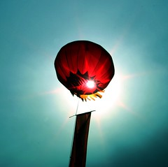 Red Balloon (Heaven`s Gate (John)) Tags: china red vacation sky sun color colour beautiful searchthebest balloon chinese creative greatwall redballoon heavensgate johndalkin