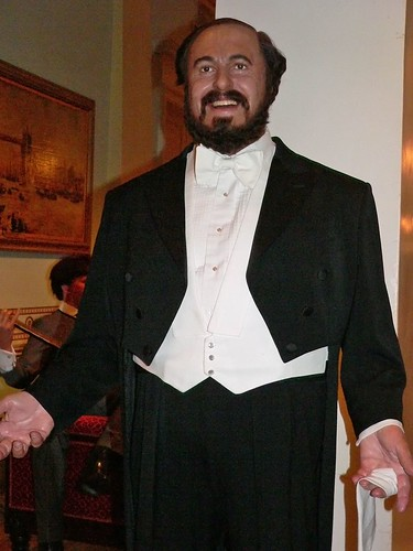 Luciano Pavarotti at Madame Tussauds in London