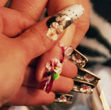 Japanese Nail Art Designs, 3D Nail Art, Flower Nail Art Designs