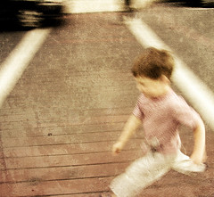 caleb (colerise) Tags: road street abstract motion texture car child path snapshot running