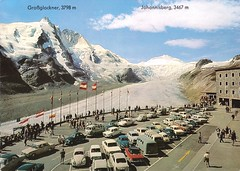 Grossglockner_ca1968_w (shoplifter_too) Tags: postcard parking lot grossglockner johannisberg
