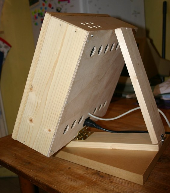 Wooden Touchscreen Terminal - back