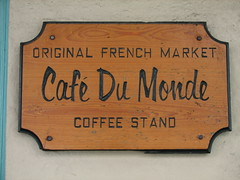 Cafe Du Monde (mrp1001) Tags: coffee sign cafe beignet chocolate neworleans monde cafedumonde