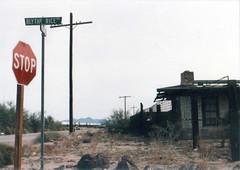 Blythe Rice Rd. / CA-62 intersection (Chris Barrus) Tags: california sign geotagged desert rice geotoolgmif ca62 geolat34083863 geolon114850468