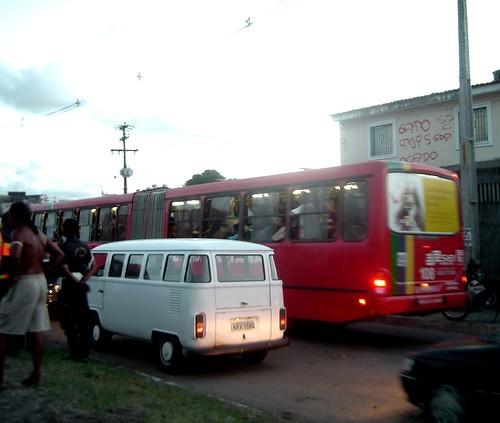 Ônibus lotado...
