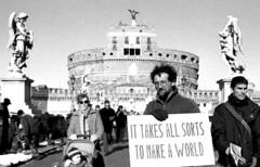 It takes all sorts to make a world (europeanartphoto) Tags: world rome make one us all with you it takes sorts blackribbonicon