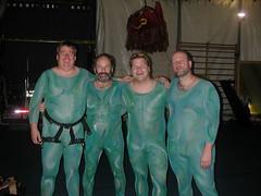Ballet on Lights - Heavy Version (Pat Rioux) Tags: people costume circus fat staff artists acrobats cirque cirquedusoleil lycra dralion aroundtheworld northamericantour technoshow