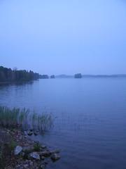 Blue night - 1 (Papa Razzi1) Tags: blue light summer water night sweden stockholm waters magiclight ekolsundsviken