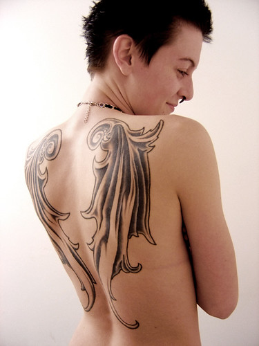 This is an angel tattoo picture with sexy ideas so that to more theme ideas