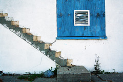 ghost stairs (Shannon K) Tags: sanfrancisco blue stairs concrete vent weeds treasureisland decay sidewalk demolished sfbas sfbasti sfchronicle96hours upcomingevent110215