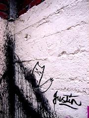 splash (-Justin Ultra-) Tags: street old pink house streetart black brick adam pasteup art wall ink painting poster fun graffiti day daniel secret ghost motel spot brush artists collab vandalism marker anarchy today loveme toya collaberation