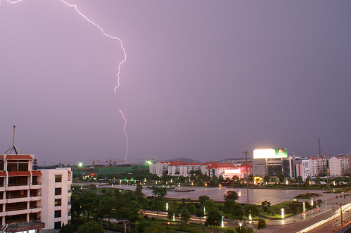 Lightning Over the Square