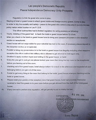 Guest House Rules (billpeterson) Tags: laos luangphrabang