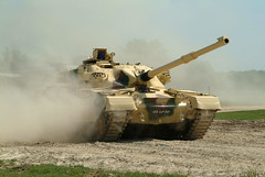 Khalid tank in action (rikdom) Tags: army tank military 2006 jordan armor challenger tanks panzer bovington chieftain tankfest