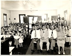 Braswell Congregational Holiness Church's Sunday School in 1952 (Old Shoe Woman) Tags: bw usa church childhood georgia oldphoto groupphoto 1952 sundayschool braswell braswellcongregationalholinesschurch