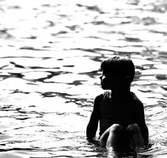 Enjoy The Present (B Tal) Tags: summer blackandwhite water girl beautiful silhouette boston wow wonderful kid amazing nice dof child photoshoot quote photoshopped great nikond50 frogpond lovely bostoncommon waterpark reportcard 80200mmf28 scoreme commentscommentscomments 29words photoshootwithmatty mattyslens