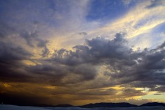 stormy sky (Codejoy) Tags: sunset sky newmexico desert whitesands flickrimportr picasa nm port4
