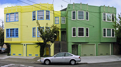 Lemon and Lime #2 (O Caritas) Tags: sanfrancisco california building green yellow july 2006 symmetry 25thstreet nikoncoolpix8800 sanjoseavenue sanfranciscochronicle96hours 2006bypatricktpowerallrightsreserved