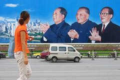 Still Applauding (Life in AsiaNZ) Tags: china street city people woman canon poster asia south chinese powershot southern leaders   nanning  guangxi   applauding       lifeinnanning  flickrgiants