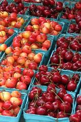 cherries (Kath B) Tags: red boston tag3 taggedout fruit cherries tag2 tag1 farmersmarket copleysquare
