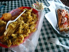 Fried Clams & Shrimp, Lobster Roll