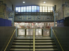 Stairs at Montreal's Central Station. (Steve Brandon) Tags: canada station stairs mural quebec montreal viarail officedepot centralstation ocanada amt garecentrale    bureauengros agencemtropolitainedetransport
