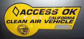 CA HOV sticker