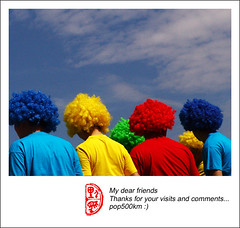 colourful people ;) (pop500km) Tags: sky people man color colour colors fun happy colorful colours 500v20f free 2006 100v10f 828 human colourful rgb kiss2 cmyk kiss3 kiss1 kiss4 kiss5 fourfavs fourfavs2 fourfavs3 pop500km