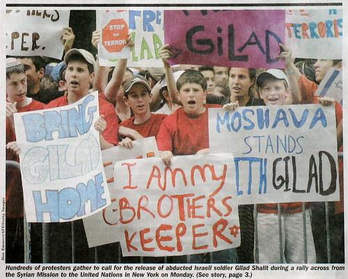 Protestons pour que Gilad soit libéré, pas pour une vidéo!