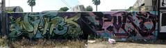 TYKE & KRUSH (Melrose & Larchmont) (TRUE 2 DEATH) Tags: california autostitch streetart graffiti la mural pano graf panoramic nasa melrose hollywood awr stitched krush tyke larchmont autostitched autopano  witnes autopanopro eyewitnes
