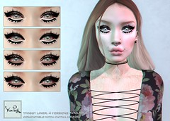 WarPaint* @BODYFY - Twiggy liner (~✰ Mafy ✰~) Tags: bodyfy warpaint war paint catwa applier mesh head liner eyeliner twiggy lashes