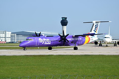 G-PRPB Bombardier DHC-8 FlyBe 28-05-2016 (t1mdean) Tags: bombardier dhc8 flybe manchesterairport prop airliner airport ringway avgeek aviation