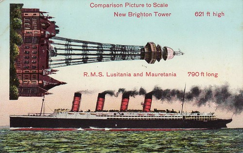 New Brighton Tower and the Lusitania