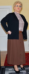 Ingrid019620 (ingrid_bach61) Tags: skirt mature button cardigan femdom pleated strickjacke governess faltenrock bowblouse schleifenbluse durchgeknpft