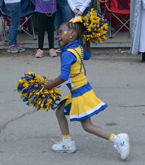 Struck by Stars (BKHagar *Kim*) Tags: blue girl stars gold star la march louisiana neworleans dancer parade nola mardigras pompoms bkhagar