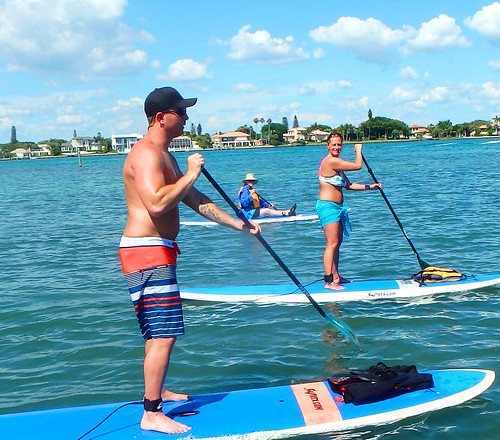 paddleboard rentas at Ted Spering Park