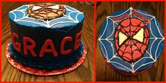 Spiderman cake by Grace, Linn County, IA, www.birthdaycakes4free.com